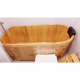 Bathtub Jati Klasik Jawa Handmade