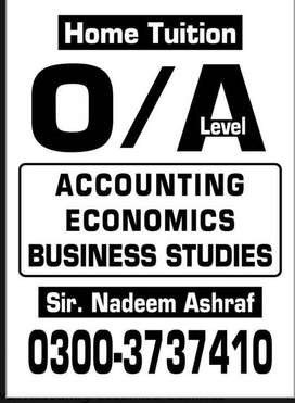 O/A Level- Accounting,economic & Business Studies