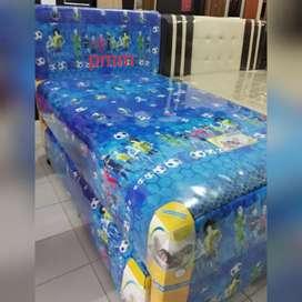 PMM BS Spring bed 2in1 beauty biru 120x200cm