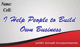 I help people to build own business with small investment