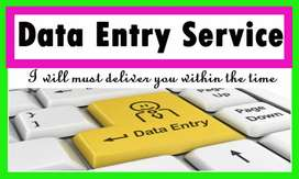 Data entry and office work