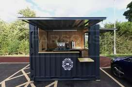 Booth Container / Upgrade tempat usaha dengan booth container kece