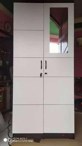 Lemari 2 pintu arion putih