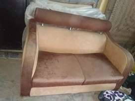 Used sofa brown color