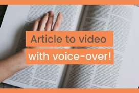 I will convert blogs article to super engaging video