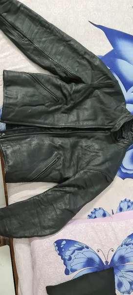 DAINESE Men's Black leather biker Jacket