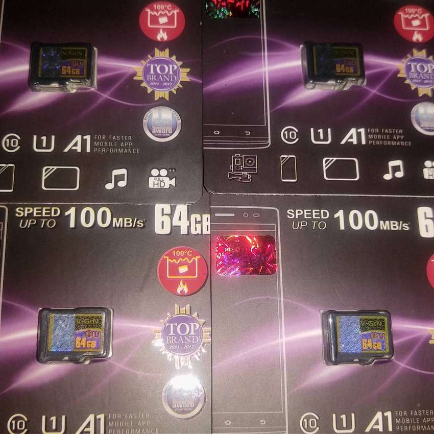 Micro SD VGen 64G Simple Pack Class10 UHS-1 100Mbps
