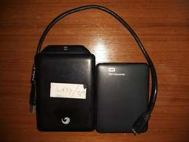 1TB SEAGATE + 1TB WD ELEMENTS PORTABLE  HARDDRIVES