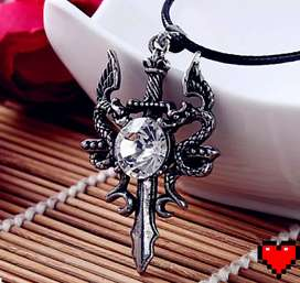 "Kalung ""Dark Angel Permata White"""