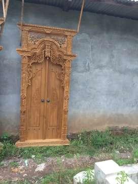 Pintu gapura ukir ready stok akserama