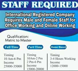 Required staff for indoor office work.