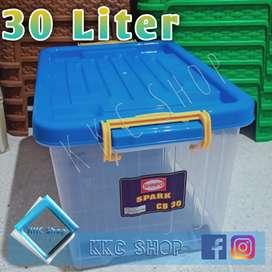 box container kontainer + roda serbaguna shinpo 30 liter