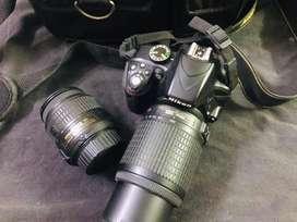 Nikon D3300 Dslr camera with dual lenses