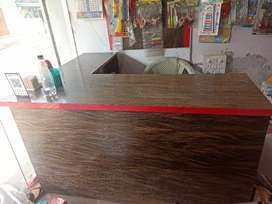 L shape counter with good condition