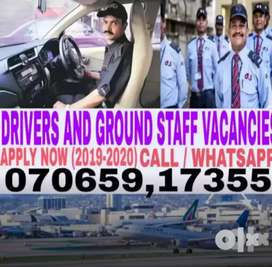 HIRING FOR AIRPORTS DRIVERS AND GROUND STAFF