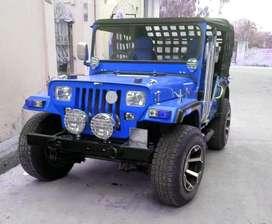 Royal blue modify open jeep