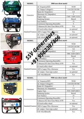 Petrol Generators 9500 -7.5kw out