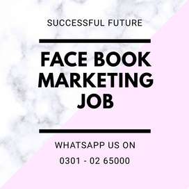 Face book marketing job is offering for students unemployed person
