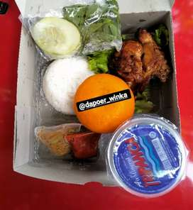 Nasi kotak siap diorder ( ayam bakar madu)