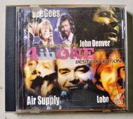 VCD 4 in one Best Collection ( Bee gees, John D, Air Supplay lobo )