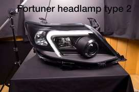 Fortuner type 2 led projector headlights made in Taiwan