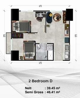 2 bedroom murah 700jtan di alexandria tower silktown bintaro jaya