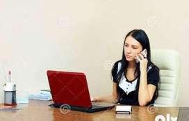 Office lo work cheyutaku Assistant kavalanu, Only female,