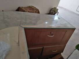 Reception table or jewelry shop furniture