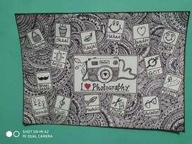 Customised doodle art
