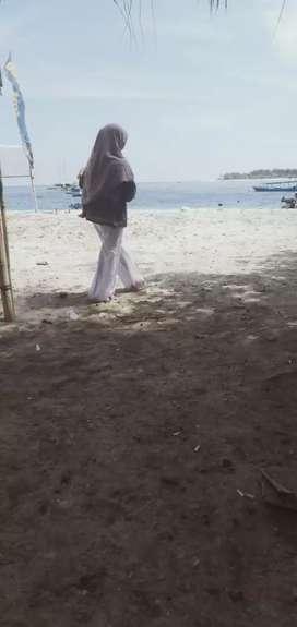 Tanah 1200 M2 sewa Gili Trawangan beach