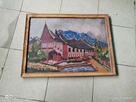 Lukisan rumah gadang minangkabau padang murah