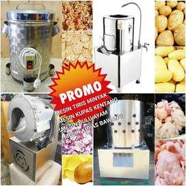 Mesin kupas kentang atau bawang bahan stainles promo