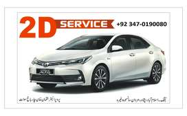 Toyota cars available in all models for rent with driver XLI,GLI,ETC