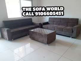 Nice looking3+3 seater sofa with center table