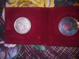Unique one rupee indian coin made in 1917