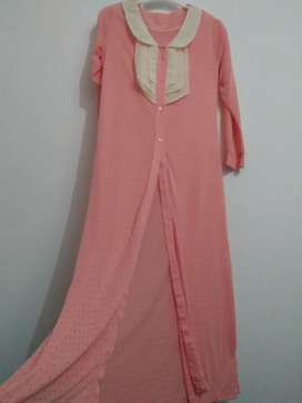 Outer - Long dress peach