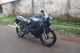 Ninja RR 150 blue navy, KM Rendah