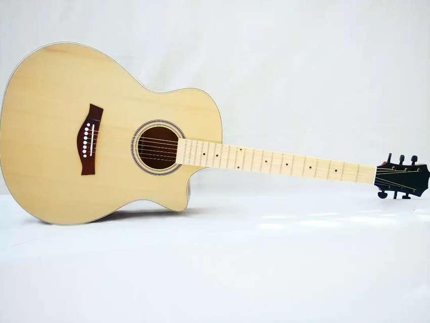 Gitar akustik neck depan putih istimewa PROMO 0