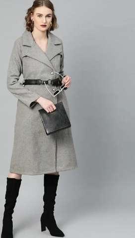 New Women's Grey Overcoat