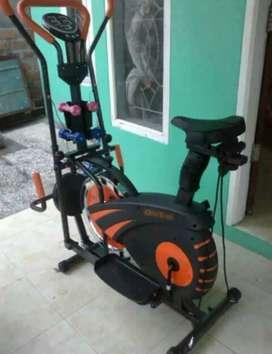 Sepeda fitnes orbitrack plat