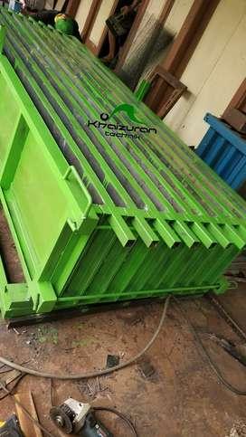 Sedia cetakan pagar beton besi siap dikirim