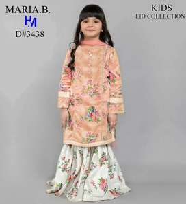 Maria B kids embroidered shirt trouser lawn collection