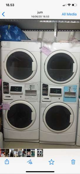 MESIN CUCI LAUNDRY MAYTAG STUCK COIN