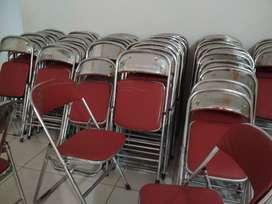 jual kursi lipat merah merk chitose/futura