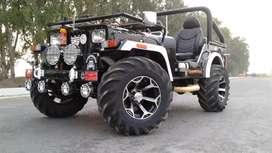 Open jeep black