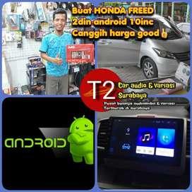 Asiik 2DIN FOR HONDA FREED ANDROID ASLI 10INC CANGGIH+CAMERA HD
