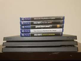 Ps4 Pro 1TB, 1 controller included with 5 games