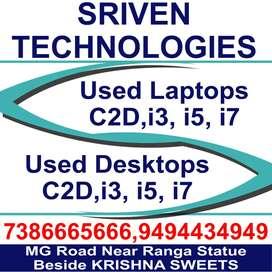 Used laptops Core2dUO - 7899 , Core i5-13999, Core i7-17999/-