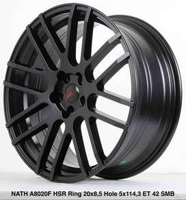 Velg Ring 20 Pcd 5X114 HSR tipe NATH Warna Hitam cocok Buat CRV