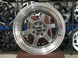 Jual Velg HSR WHEEL Tokyo Rifu Ring 16x7/8 H8(100/114, 3) Grey Polish